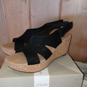 Women's Velcro Strap Clark Wedge Sandals